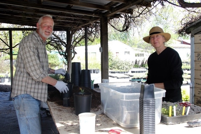 Sherrie Althouse and Phil Van Soelen of California Flora Native Plant Nursery